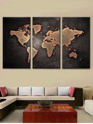 World Map Print Unframed Canvas Paintings -
