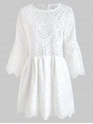 Eyelet Mini Swing Dress -