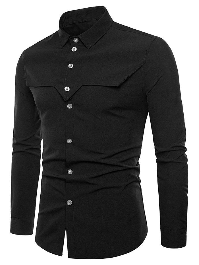 Discount Vintage Tailored Cloth Embellished Long Sleeve Shirt