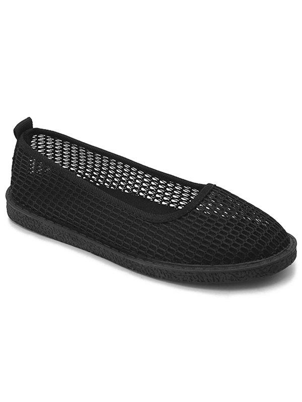 Shop Flat Heel Mesh Slip On Casual Shoes