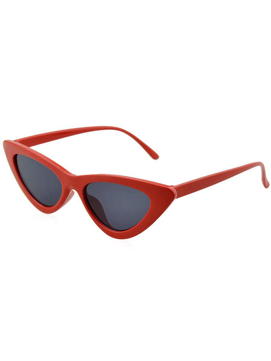 Chic Anti Fatigue Plastic Frame Flat Lens Catty Sunglasses