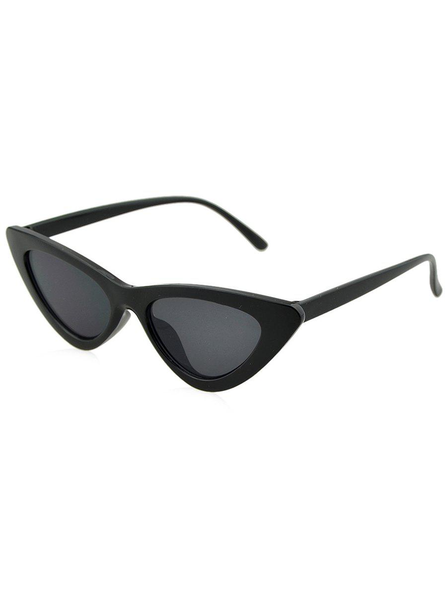 Anti Fatigue Plastic Frame Flat Lens Catty Sunglasses