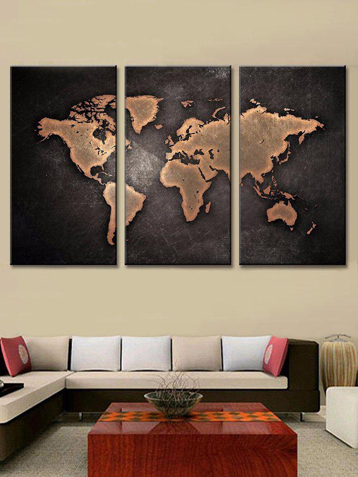 Unique World Map Print Unframed Canvas Paintings