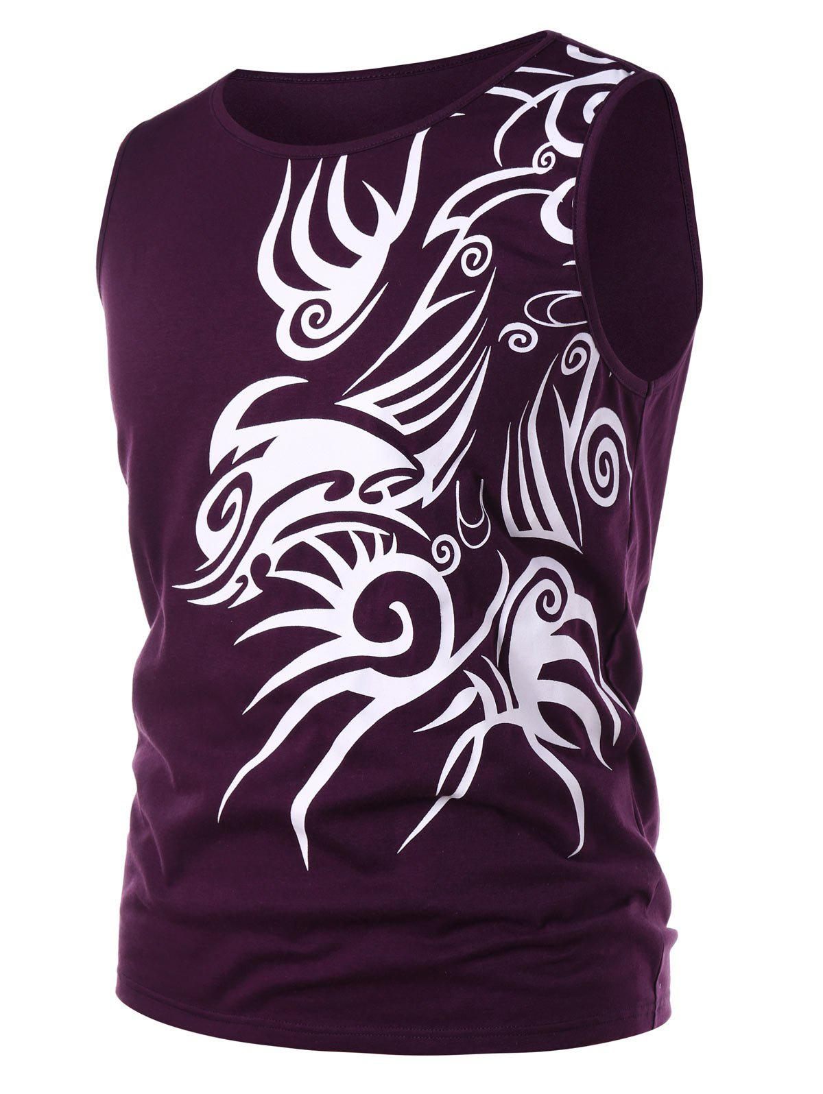 Discount Tribal Print Fitted Tank Top