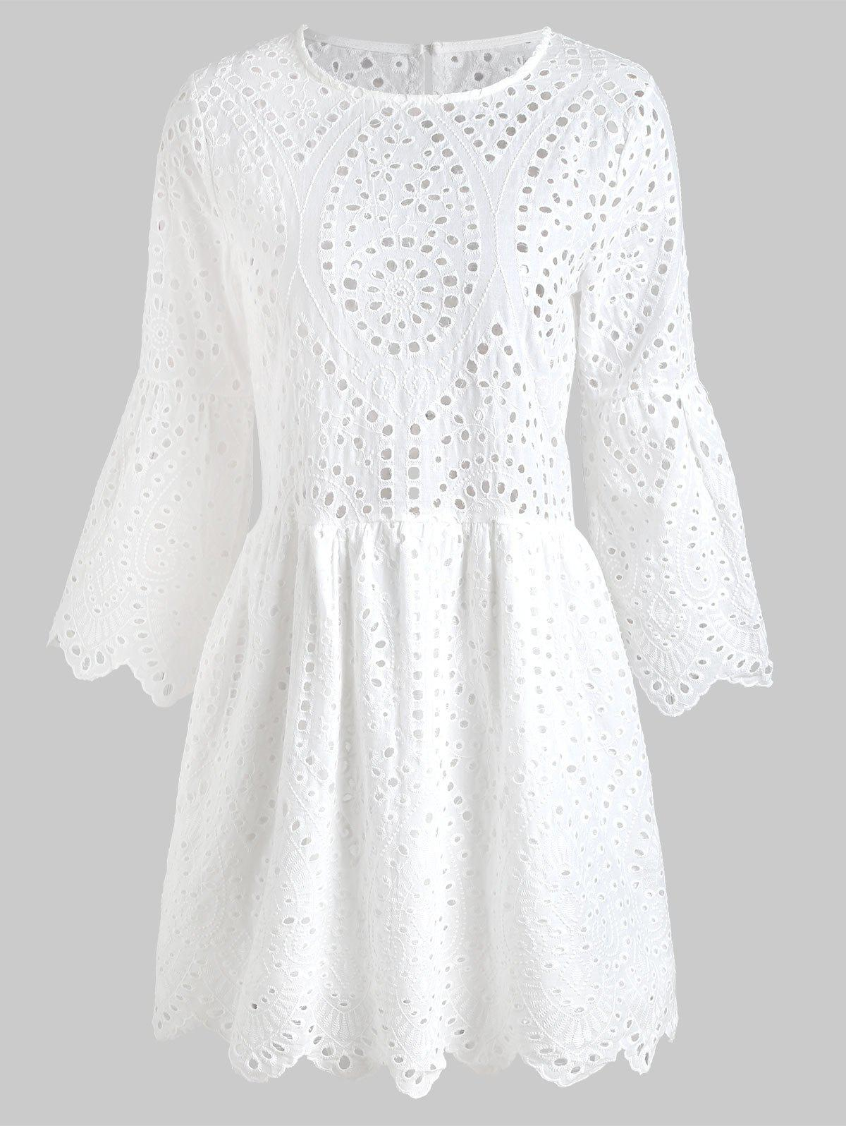Online Eyelet Mini Swing Dress