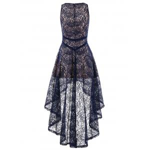 Sleeveless Asymmetrical Lace Dress -