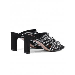 High Heel Letters Casual Strappy Slide Sandals -
