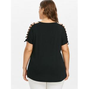 Plus Size Ladder Cut Moon Phase T-shirt -