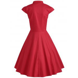 Ruffle Formal Swing Vintage Dress -