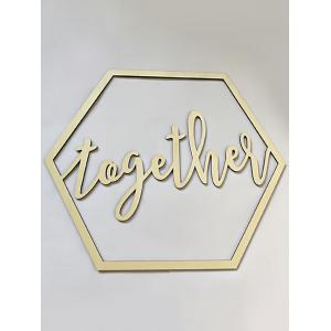 Better Together Chair Signs Wedding Decoration -