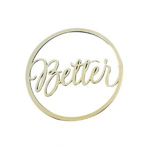 Better and Together Chair Signs Wedding Decor -