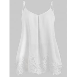 Плюс Размер Scalloped Edge Slip Tank Вверх -