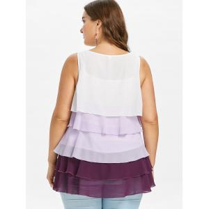 Layered Ruffle Plus Size Nursing Blouse -