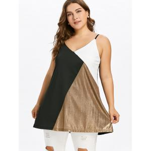 Plus Size Color Block Tunic Tank Top -