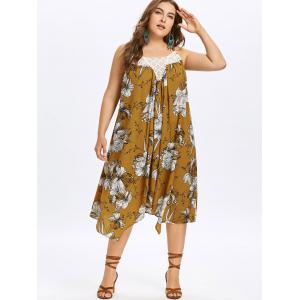 Plus Size Hawaiian Floral Trapeze Dress -