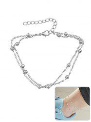 Metal Beads Design Layered Anklet Chain -