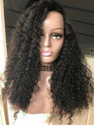 Long Side Bang Fluffy Curly Lace Front Synthetic Wig -