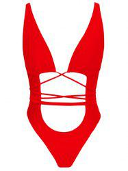 Strappy Cut Out One Piece Swimsuit -