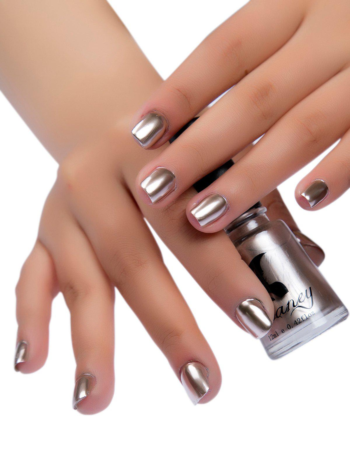 Shop Glitter Mirror Effect Nail Polish Metallic Chrome Nail Art Polish Gel