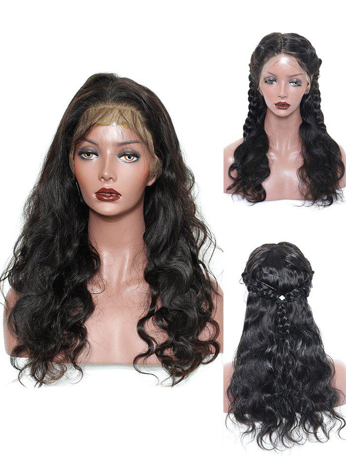 New Long Center Parting Wavy Lace Front Synthetic Wig