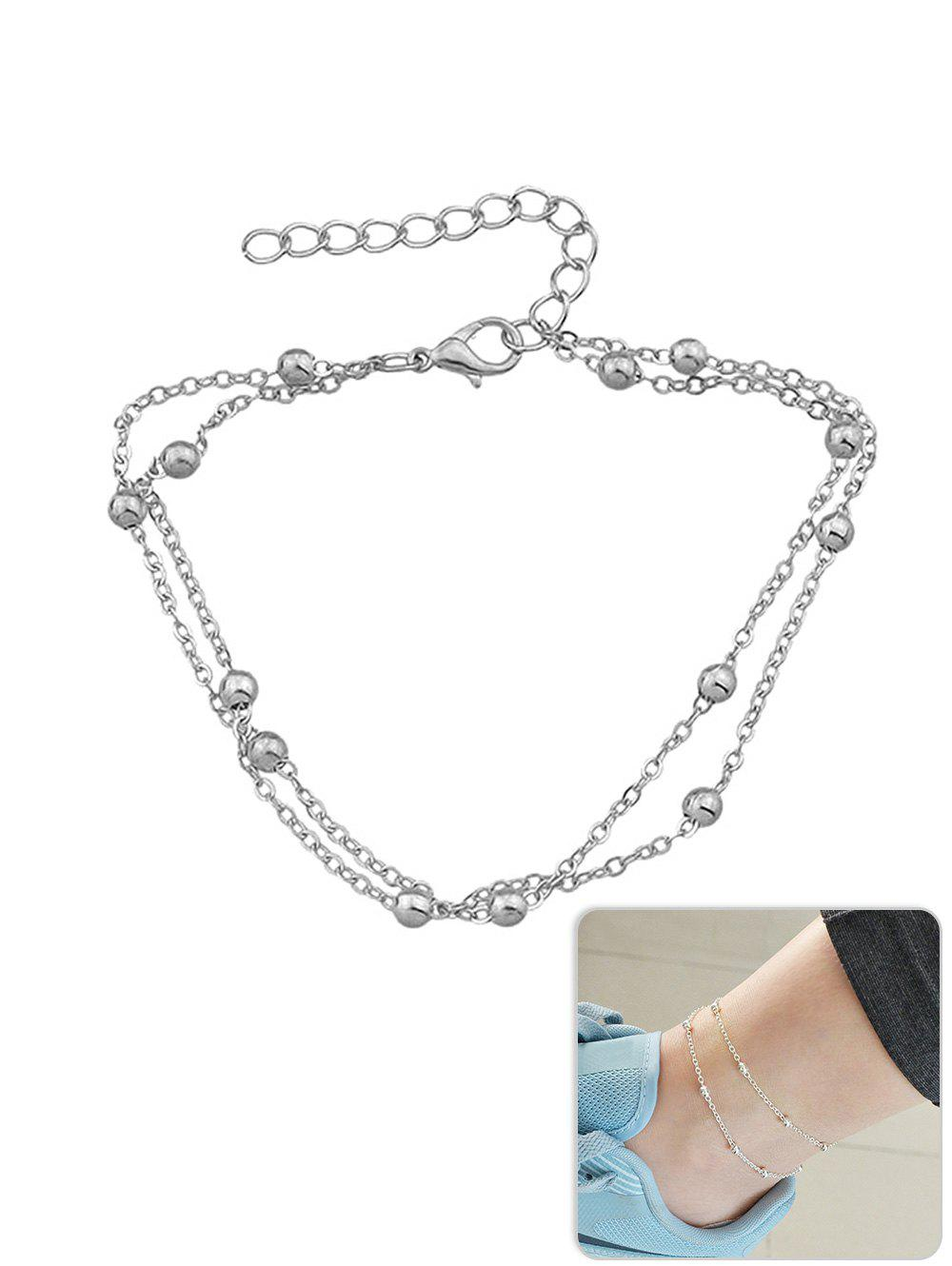 Discount Metal Beads Design Layered Anklet Chain