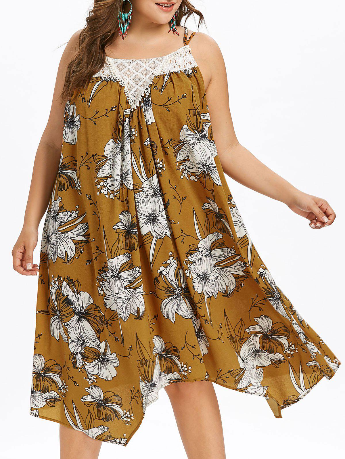 Buy Plus Size Hawaiian Floral Trapeze Dress