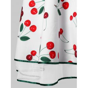 Vintage Cherry Print Party Skater Dress -