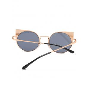 Anti Fatigue Metal Full Frame Catty Round Sunglasses -