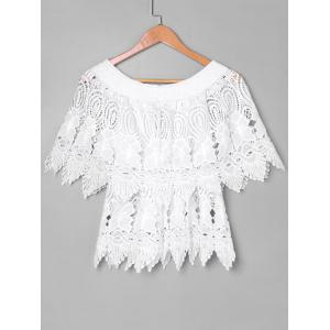 Lace Layered Cape Blouse -