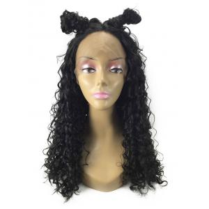Long Center Parting Curly Synthetic Lace Front Wig -