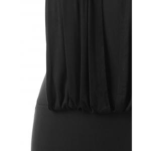 Keyhole Neck Plus Size Bodycon Dress -