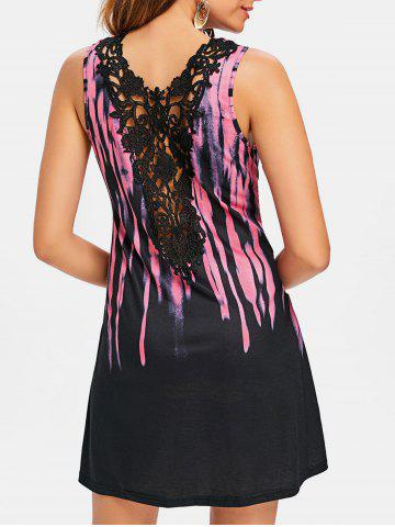 Fashion Tie Dyed Print Casual Dress
