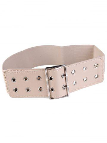 Hot Hollow Out Rivets Metal Buckle Stretchy Waist Belt