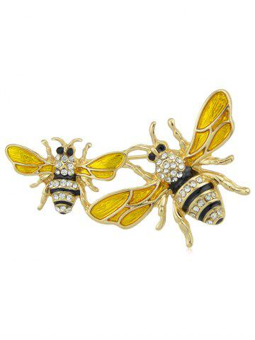 Outfits Honeybees Shaped Rhinestone Brooch