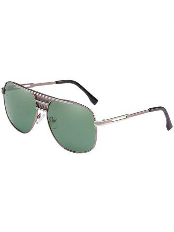 Lunettes de soleil anti-fatigue Metal Full Frame Crossbar Pilot