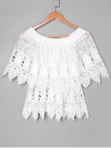 New Lace Layered Cape Blouse