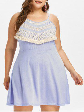 Trendy Plus Size Crochet Lace Mini Slip Dress