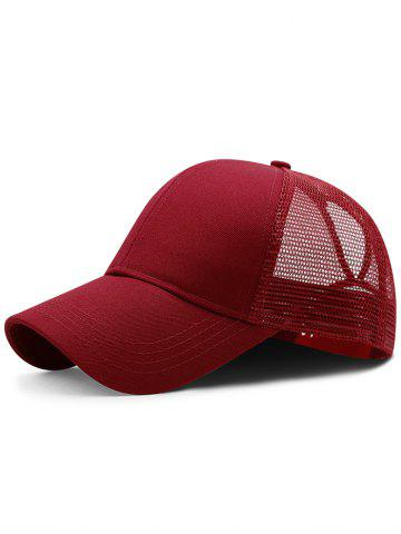 Outfit Lightweight Solid Color Mesh Graphic Hat
