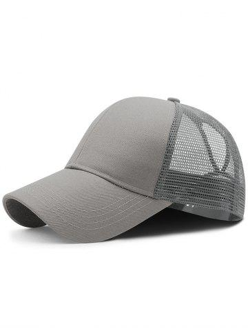 Trendy Lightweight Solid Color Mesh Graphic Hat