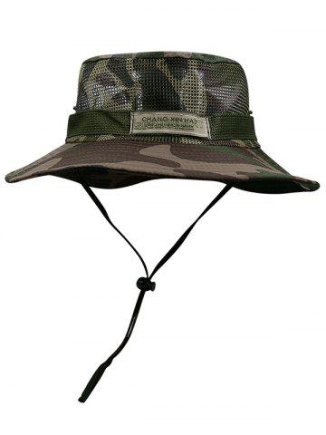 Hot Camouflage Pattern Mesh Fisherman Hat