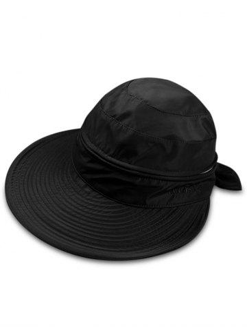 Outfit Outdoor Removable Top Cover Folding Wide Brim Sunscreen Hat