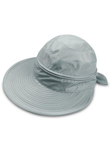 Trendy Outdoor Removable Top Cover Folding Wide Brim Sunscreen Hat