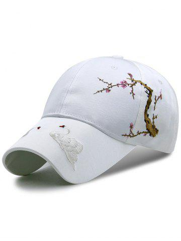Online Vintage Swan Embroidery Adjustable Snapback Hat