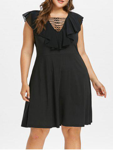 Outfits Plus Size Ruffle Lattice Dress