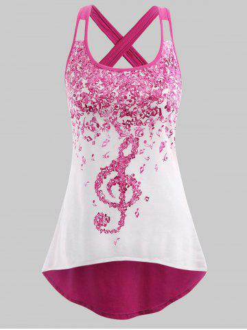 Buy Plus Size Musical Notes High Low Tank Top