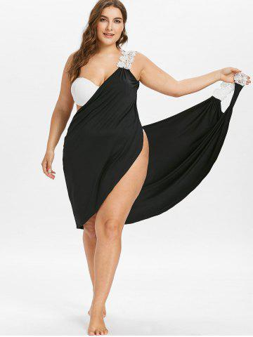 44d55d729b9 Plus Size Lace Wrap Cover-up Dress