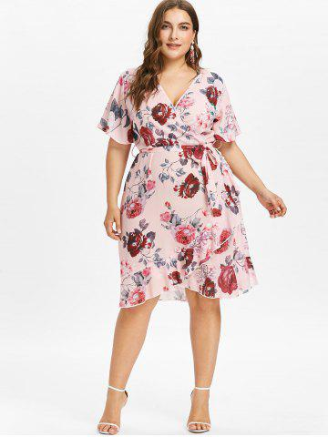 Wrap Dresses Maxi Black And Floral Cheap With Free Shipping