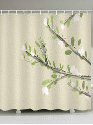 Flower Leaf Inbetweening Waterproof Shower Curtain -