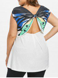 Plus Size Cut Out Butterfly Top -
