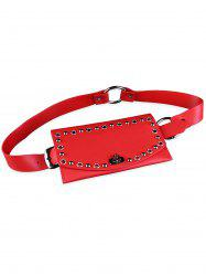 Stylish Funny Bag Embellished Hollow Rivets Waist Belt -
